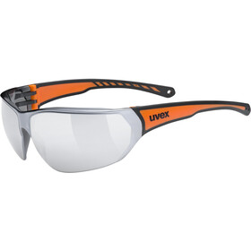 UVEX Sportstyle 204 Glasses black/orange/mirror silver